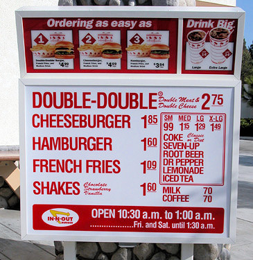 In And Out Menu