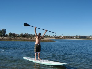 Jason Moffatt SUP in Mission Bay
